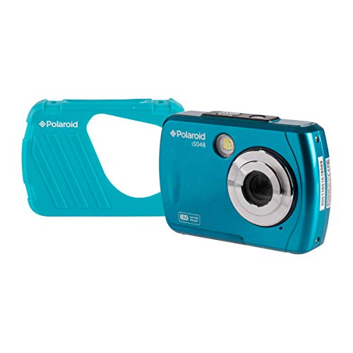 Polaroid IS048 Waterproof Instant Sharing 16 MP Digital Portable Handheld Action Camera, Teal (Color: Teal)