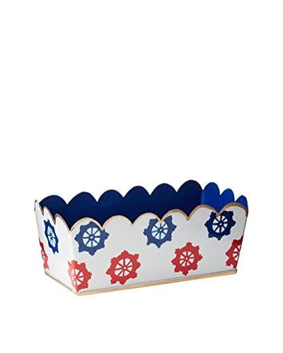 Malabar Bay Ahoy Desk Caddy, Red