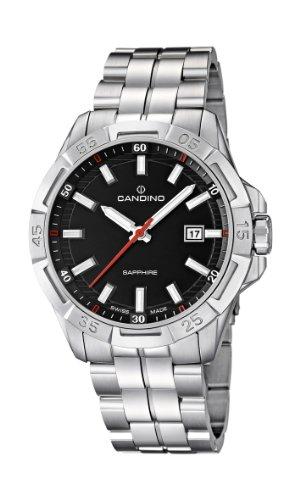 Candino C4496/3 - Reloj analógico de cuarzo para hombre con correa de acero inoxidable, color plateado
