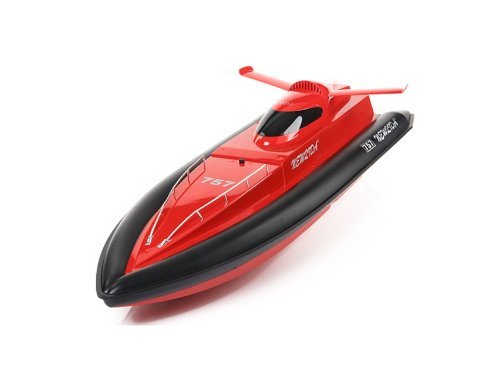 Newqida 757T-4015 Tracer-2 Racing Boat RC 1/16 Speed Ship (Red)