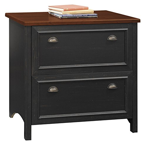Stanford Lateral File Cabinet in Antique Black (Bush Stanford compare prices)