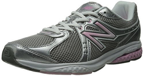 New Balance Women's WW665 Fitness Walking Shoe,Grey/Pink,8 B US