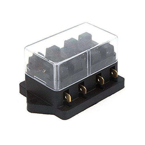 Ronben Universal Car Truck Vehicle 4 Way Circuit Automotive Middle-sized Blade Fuse Box Block Holder