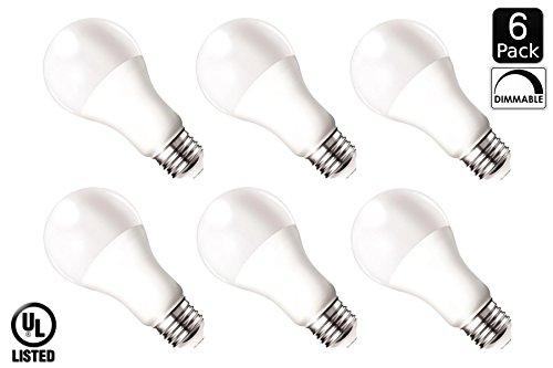 Luxrite LR21083 (6-Pack) 14-Watt Dimmable LED A21 Light Bulb, 100-Watt Equivalent, Cool White 4000K, 1500 Lumens, Medium Screw Base (E26), UL-Listed (Reveal Lightbulbs 100 Watt compare prices)