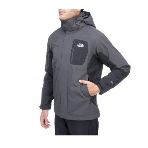 The North Face Doppeljacke M Atlas Triclimate Jacket asphalt grey/tnf black (Größe: XXL)