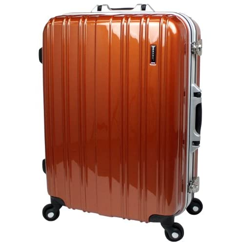 【SUCCESS サクセス】スーツケース 新型生活防水仕様【TSA搭載ジェノバWP ~ Jジャストサイズ(72cm)】【防水モデル 軽量フレーム 5泊~10泊用】【大型と中型の中間サイズ 】キャリーケース キャリーバッグ トランク (大型72cm, プレミアダークオレンジ)