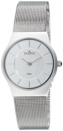 Skagen 233SSS Ladies Watch with Stainless Steel Bracelet