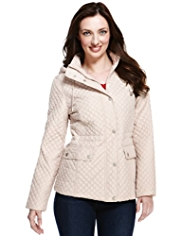 M&S Collection Diamond Quilted Jacket with Stormwear™