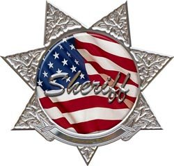 7 Point Star Sheriff Police Decal - 4