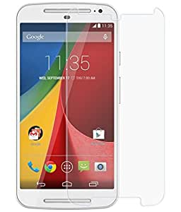 Motorola Moto G (2nd Gen) Compatible Tempered Glass Screen Protector (Antishock, Curved Edged) (Pack of 2, Only Front Transparent) (Combo Offer, get a VJOY 7800 mAh Power-Bank CYAN) (1 Year Replacement Guarantee, Li-ion Battery, Long Battery-Life) worth Rupee 2100/- absolutely free with Screen Protector)