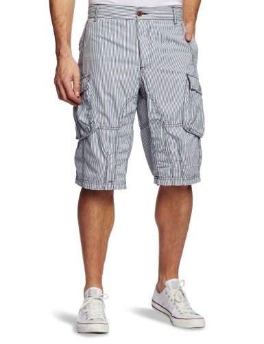 French Connection Shirting Men's Shorts Blue Stripe W34 IN