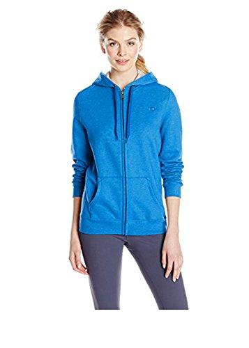 Champion Women's Full-zip Eco Fleece Jacket Hoodie, Bozzetto Blue SD Heather, Small