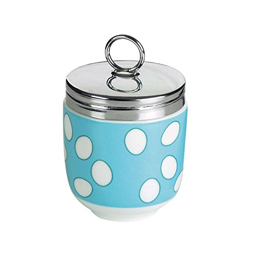 DRH Egg Coddler / Egg Poacher, Blue Spotty