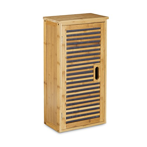 Relaxdays-Badezimmerschrank-Bambus-H-x-B-x-T-66-x-35-x-20-cm-2-Ablageflchen-mit-Stauraum-fr-Badeaccessoires-als-Standregal-mit-Schrank-und-1-verstellbaren-Einlegeboden-fr-Bad-und-Wohnzimmer-natur