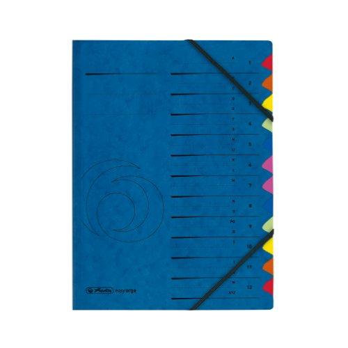 Herlitz 5001128 - Archivador de cartón A4 con índice del 1-12 y de la A a la Z 355 g/m2