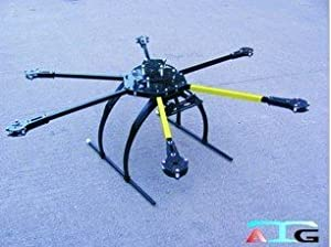 ATG 700-AL CRP Carbon Folding Frame Hex rotor Hexa Multi-copter W/Tall landing by GET