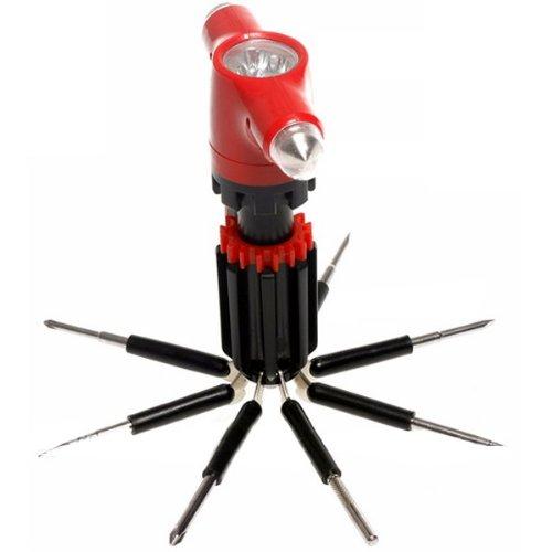 8In1 Car Safety Hammer Flashlight Screwdriver Broken Windows Device