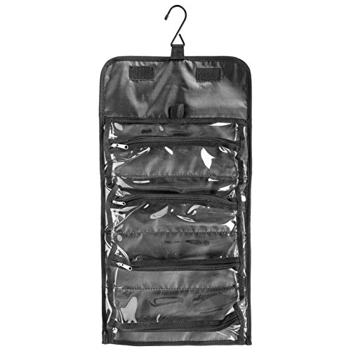 Shany Jet Setter Travel Makeup Bag Clear With Matte
