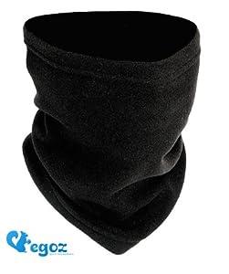Egoz Pistachio 4-en-1 Micro Polaire cache-cou / Masque / Chapeau Snood / écharpe militaire Fleece Neck Warmer Black visage chaud thermiques Ski Snowboard Sports Cyclistes véritable