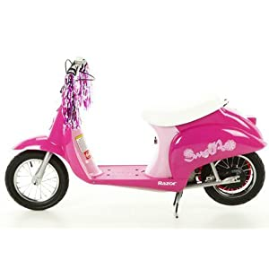 Exclusive Razor Sweet Pea Pocket Mod Miniature Electric Euro-Style Scooter for Girls By RAZOR