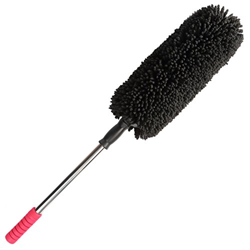 holauto microfiber car duster telescopic handle and electrostatic paintjob safe fabric for. Black Bedroom Furniture Sets. Home Design Ideas