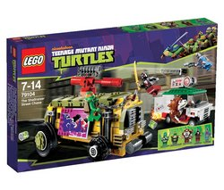 """LEGO Ninja Turtles - The Shellraiser Street Chase - 79104 (Lego Teenage Mutant Ninja Turtles 5702014972445) """"Dogpound is speeding through the city, making special deliveries of toxic ooze in his pizza delivery..."""