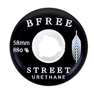 B Free 2014 58mm 88a Aggressive Skate Wheel (Set of 4) by Street Artist Urethane