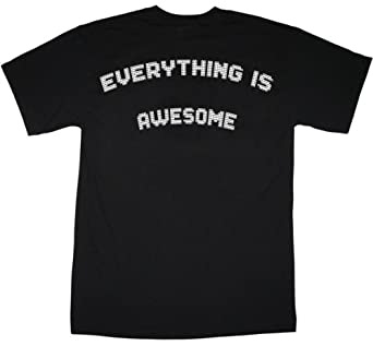 Everything Is Awesome In Bricks T Shirt (Child Medium 9 - 11 Yrs (34in Chest))