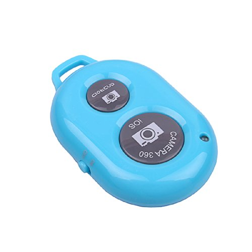 Jbtek Bluetooth Wireless Remote Control Camera Photo Shutter Release Self Timer For Iphone 5 5S 5C 4S 4 Ipad 5 4 3 Ipad Air Mini Samsung Galaxy S4 S3 Note 3 2 Android And Any Smart Phone (Blue) front-714753