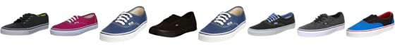 Vans Unisex Authentic Trainer navy VEE3NVY 9 UK