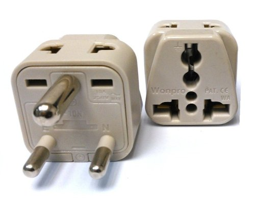 Ckitze BA10-2PK 2 In 1 USA to India Adapter Plug - 2 Pack, Universal (Type D) (Adaptor Plugs For India compare prices)