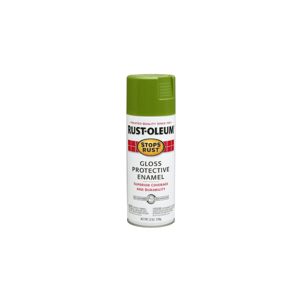 Rust Oleum 250705 12 Ounce Spray Paint, Gloss Fern