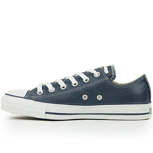Converse Unisex Chuck Taylor All Star Leather Navy Sneaker - 9 Men - 11 Women