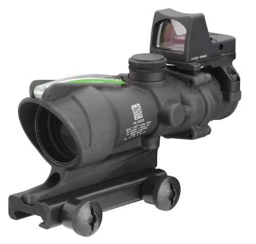 Trijicon Ta31Rmr-G Acog 4X32 Scope, Dual Illuminated Green Crosshair .223 Ballistic Reticle, 3.25 Moa Rmr Sight