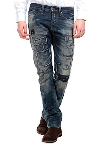 Replay Jeans Stretti WAITOM, uomo, Colore: Blu Scuro, Taglia: 33/34