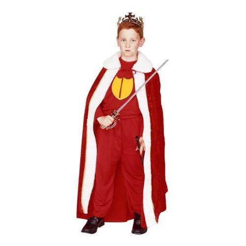 King Robe - Blue, Child Small Costume (Ermine Robe)