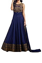 Poonam Fab-Unstitch Dress Material_Copper_Blue
