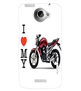 ColourCraft Bike Back Case Cover for HTC ONE X