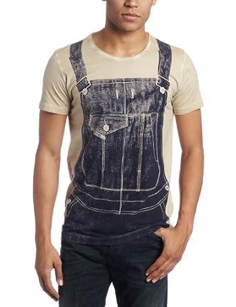 Diesel Men's T-Traerso T-Shirt, Tan, Medium