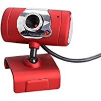 DATON USB 2.0 30 Mega Pixel Web Cam HD Camera WebCam With MIC Microphone For Computer PC Laptop Red