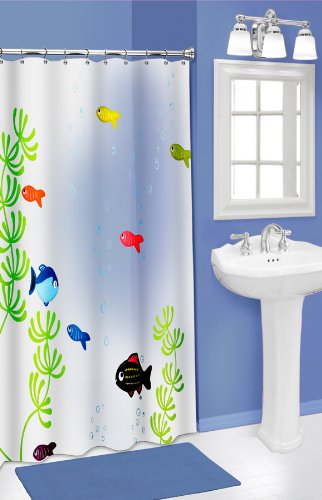 Kids' Tropical Fish Bathroom Decor