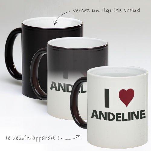 Tasse Mug Magique Personnalise I Love Andeline