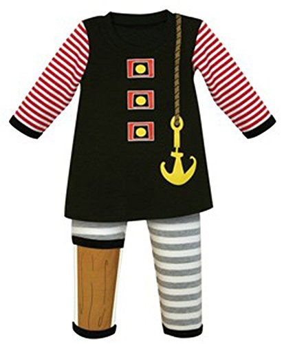 Stephan Baby Toddler Boy Pirate Outfit / Halloween Costume (12-18m)