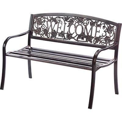 Welcome Outdoor Steel Bench