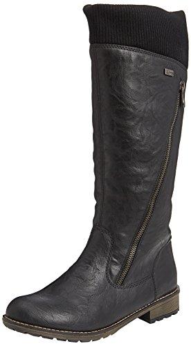 Remonte DorndorfR3343 - Stivali da equitazione con imbottitura pesante donna , Nero (Schwarz (asphalt/schwarz / 01)), 42