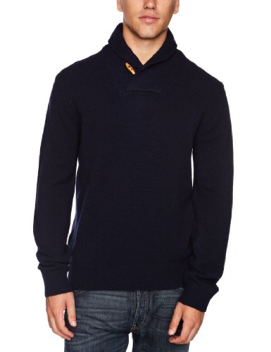 French Connection LambsWrap Men's Jumper Darkest Blue Small