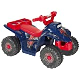 Spiderman Little Quad Battery Operated Riding Toy Red/Blue (6 Volts) Kids Toys Soft Playing Rocking Children Comfort Seat, Tough Atv Traction Tires Stylish Designable And Stylish Exclusive Collection.