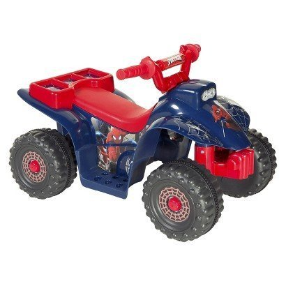 Spiderman Little Quad Battery Operated Riding Toy - Red/Blue (6 Volts) - kid's - toy's - soft - playing - rocking - children - Comfort Seat, Tough ATV Traction Tires - Stylish - Designable and stylish - Exclusive Collection.