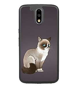 Grumpy Cat 2D Hard Polycarbonate Designer Back Case Cover for Motorola Moto G4 Plus :: Moto G4+