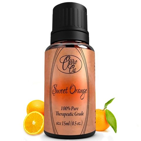 Sweet Orange Oil by Ovvio Oils - All Natural Cleaning. Essential Oil Can Be Used Polish and Mood Enhancer - Origin: Brazil - Full 15ml - Unleash The Power of Orange Oil on Your Wood Furniture, Use As A Surface Cleaner, Or As A Natural And Chemical Free Sp